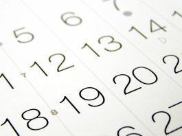 Календар с имени дни