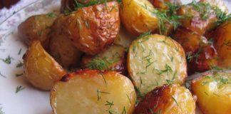 Пресни картофи на фурна с копър