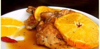 Свински котлет с портокалов сос