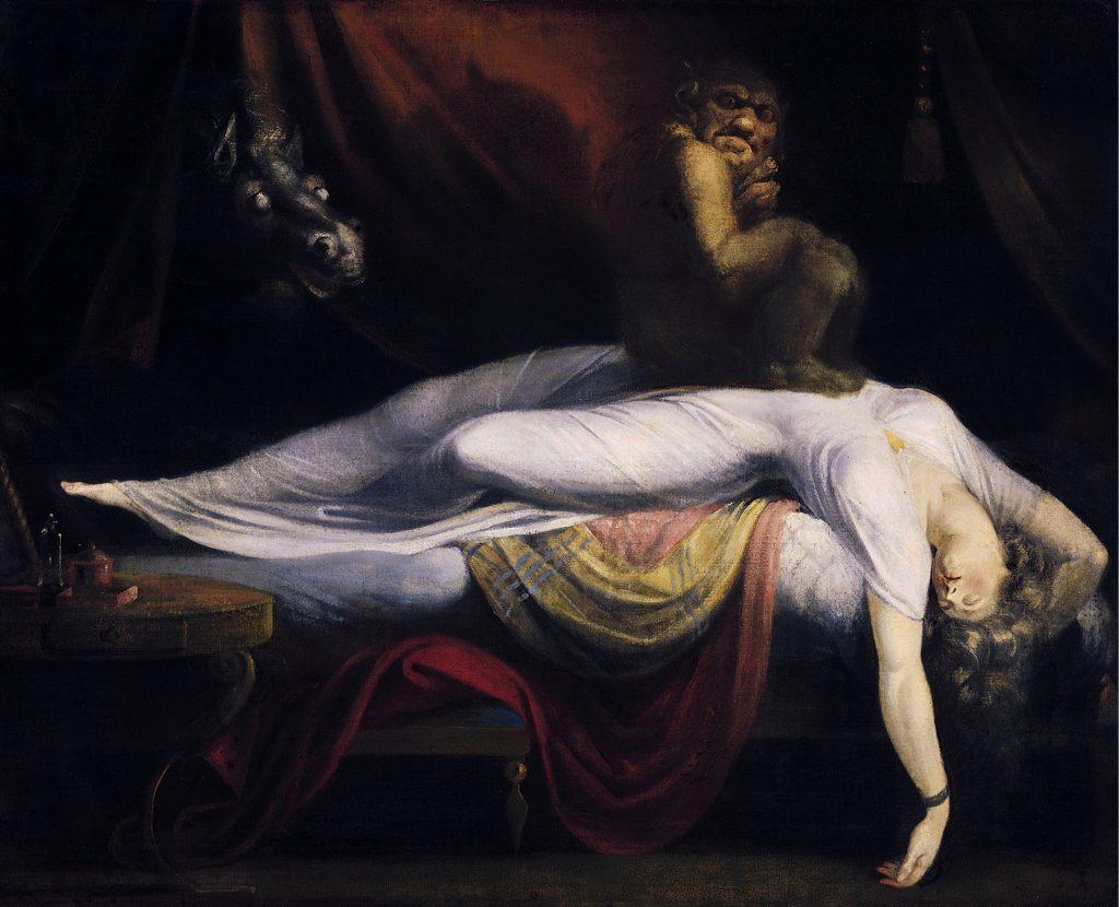 Сънна парализа - Кошмарът, от Хенри Фюсли