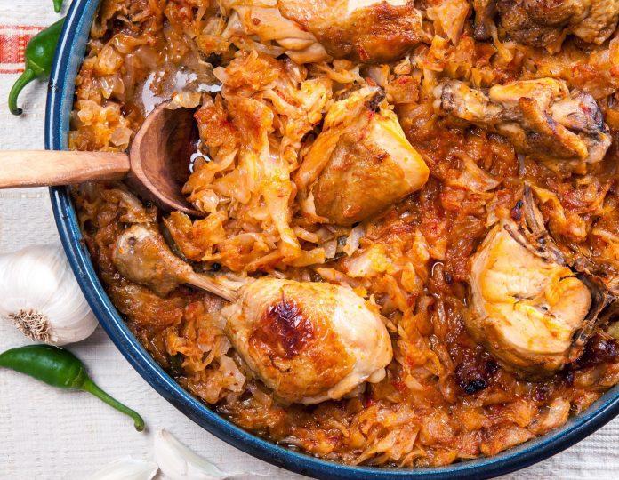 пилешко с прясно зеле