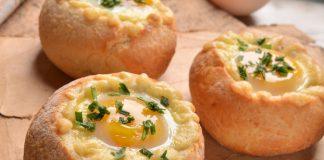 пълнени питки с яйце