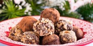 Шоколадови трюфели с ром и стафиди