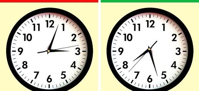 График на важни срещи за началото или края на деня