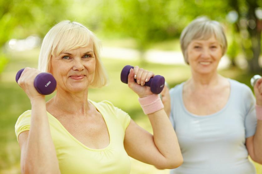 Упражнения срещу болести - вдигане на гирички