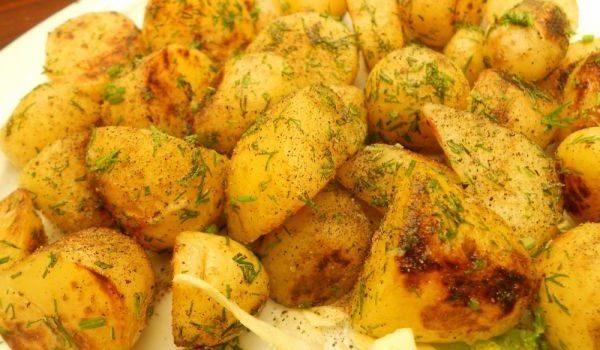 Картофи соте с копър