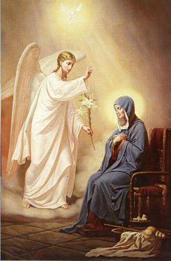 Богородица получава благата вест