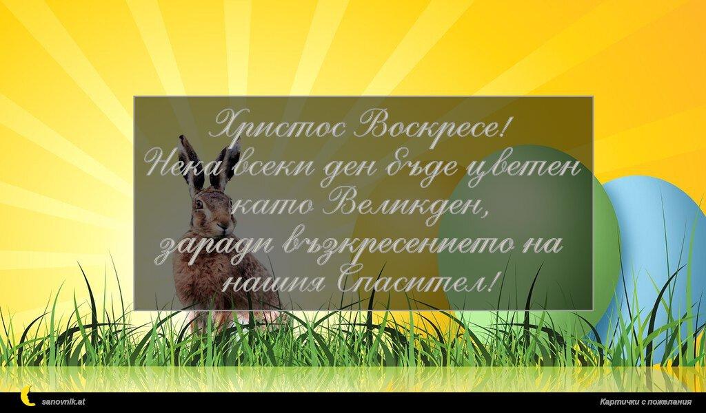 Христос Воскресе! Нека всеки ден бъде цветен като Великден, заради възкресението на нашия Спасител!