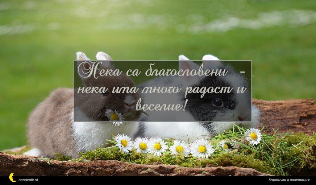 Нека са благословени - нека има много радост и веселие!