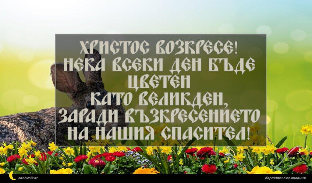 Христос Возкресе! Нека всеки ден бъде цветен като Великден, заради възкресението на нашия Спасител!