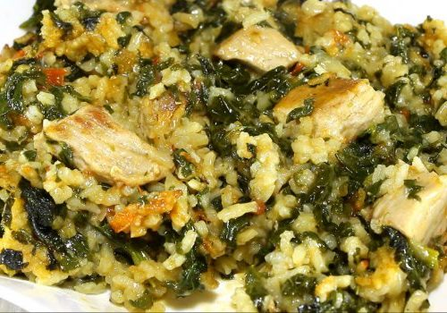 Свинско с ориз и коприва