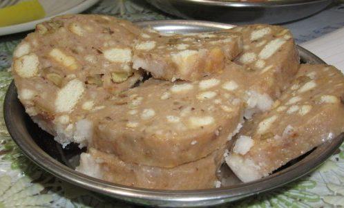 Сладък салам със сусамов тахан