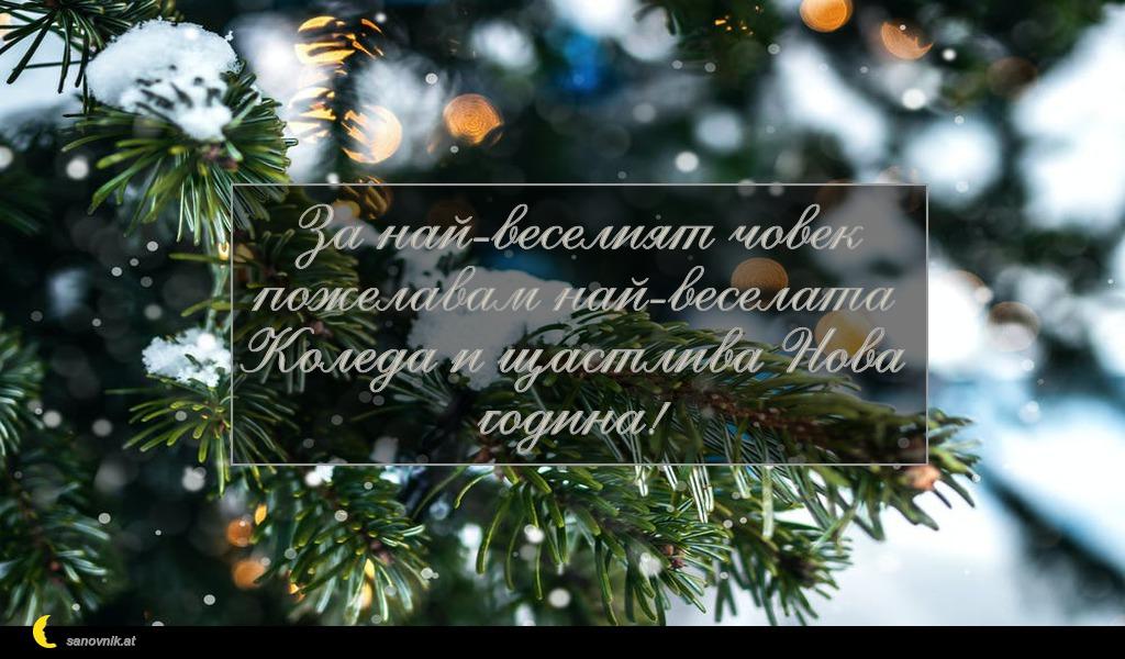 За най-веселият човек пожелавам най-веселата Коледа и щастлива Нова година!
