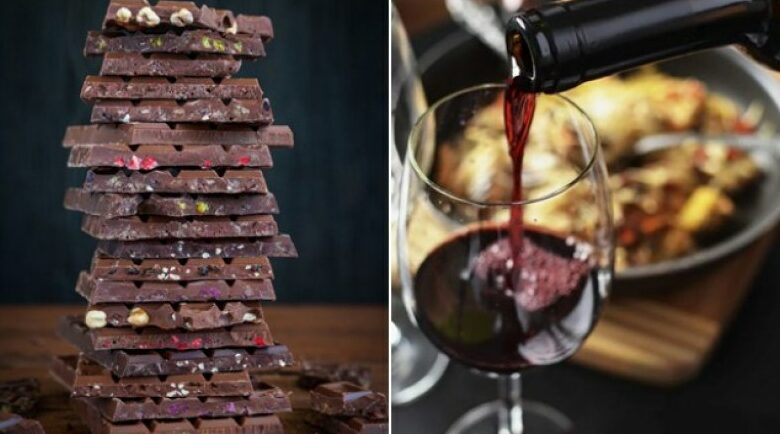 Зимен десерт с червено вино