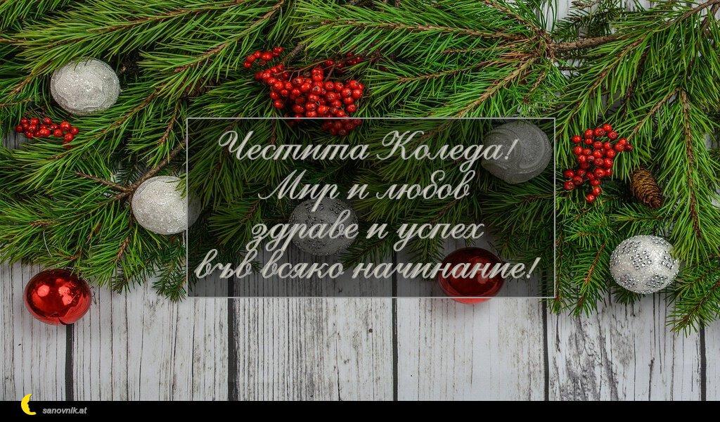 Честита Коледа! Мир и любов здраве и успех във всяко начинание!